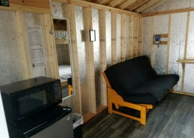 Green cabin futon