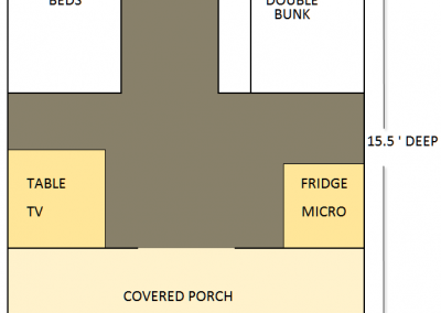 Brown cabin floorplan