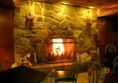 Cafe fireplace