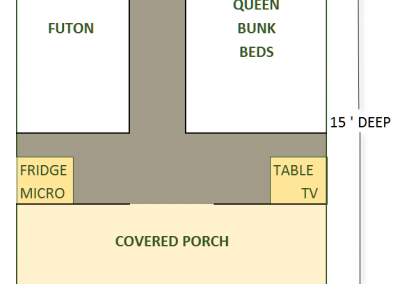 Green cabin floorplan