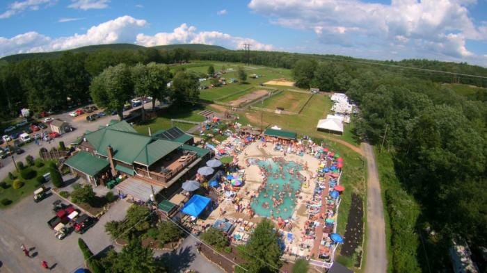 Drone photo of The Woods pool